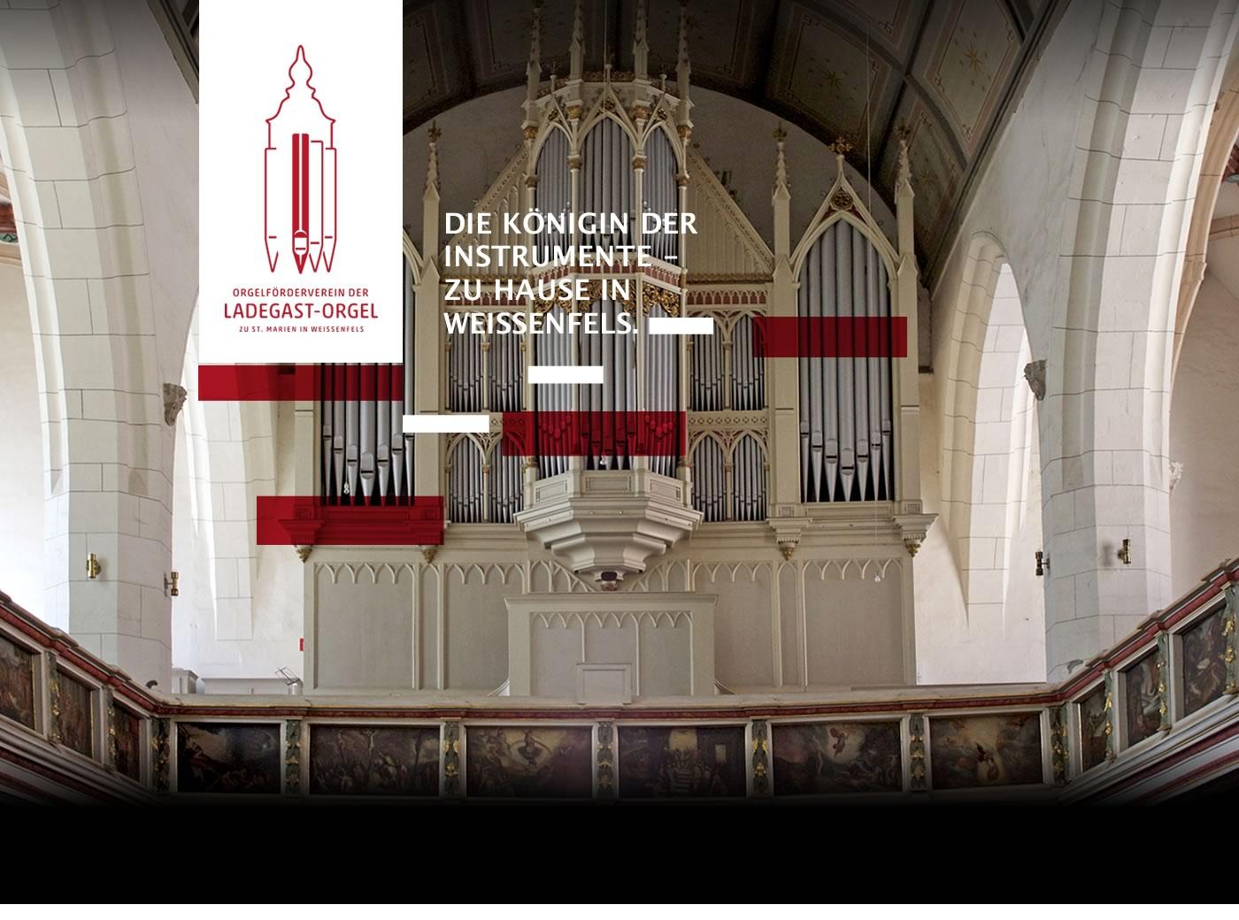 Ladegast Orgel In Der Marienkirche Weissenfels Musikkoffer Sachsen Anhalt